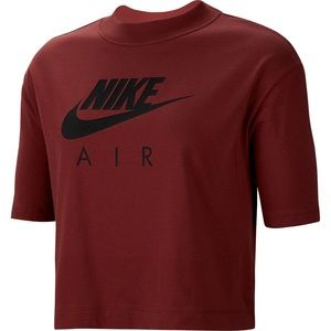 Nike Air Burgundy Crew Short Sleeve Shirt